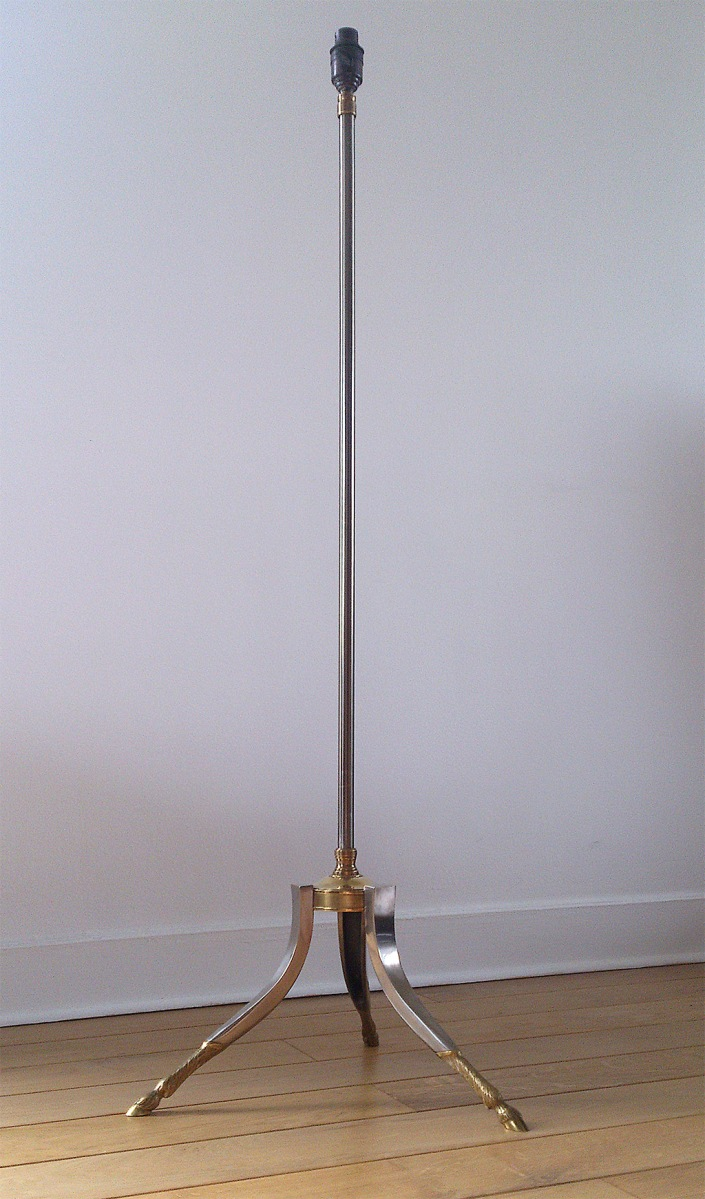 Maison Charles brass and steel floor lamp
