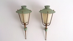 Arlus iron and rigitulle sconces