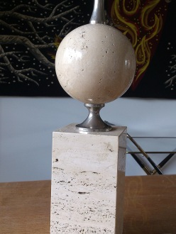 Maison Barbier travertine table lamp