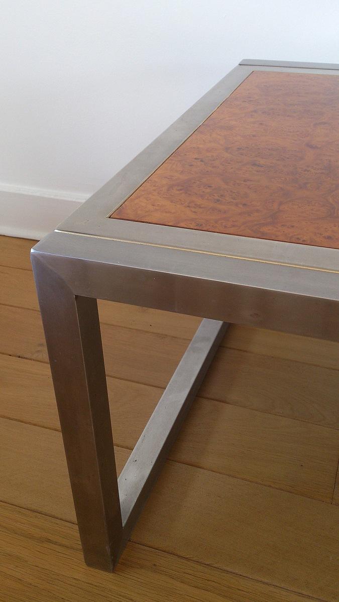 Milo Baughman loupe d'orme coffee table