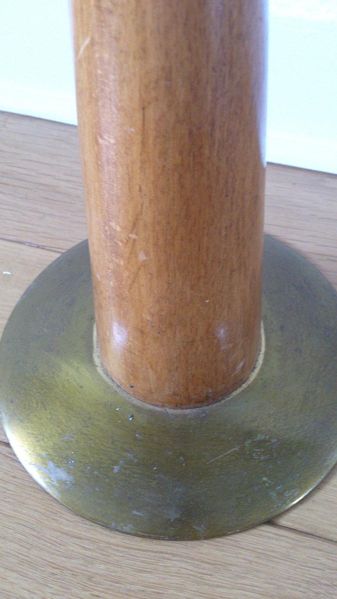Cast iron and teak holder
