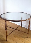Solid cast iron & glass occasional coffee table