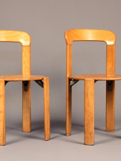 pair of Bruno Rey modernist chairs