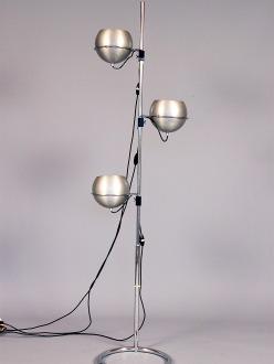 1970's aluminum floor lamp