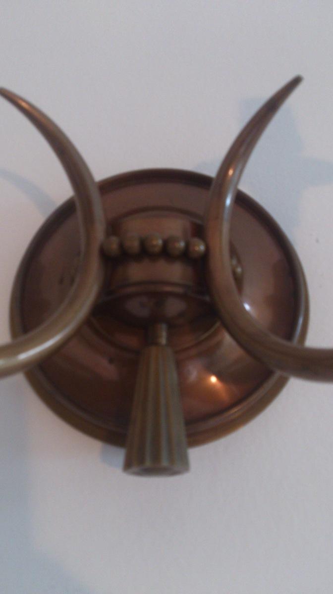 Genet et Michon - exceptional bronze sconce France 1940's