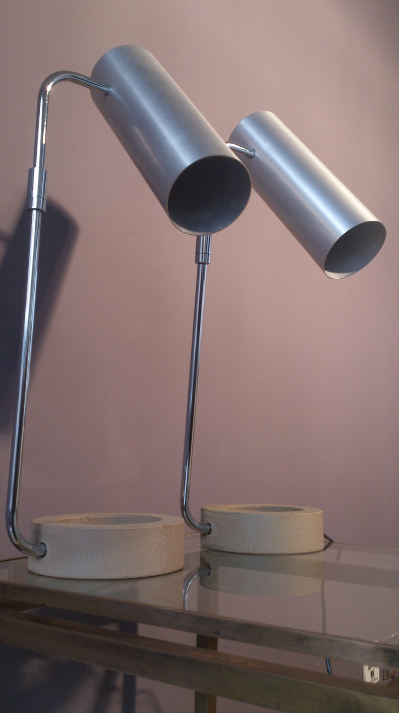 exceptional pair of Baltensweiler lamps