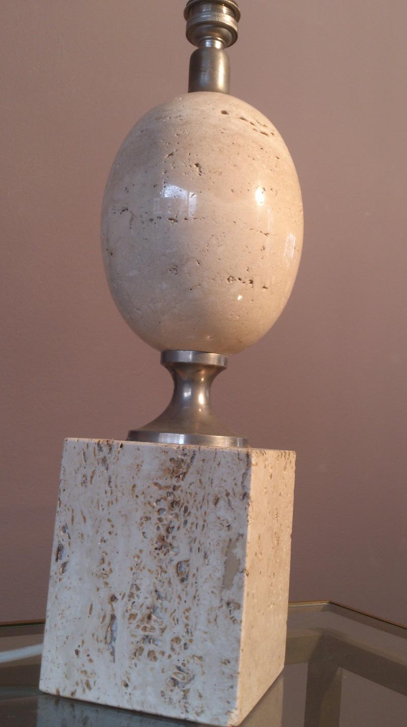 Maison Barbier beige travertine lamp