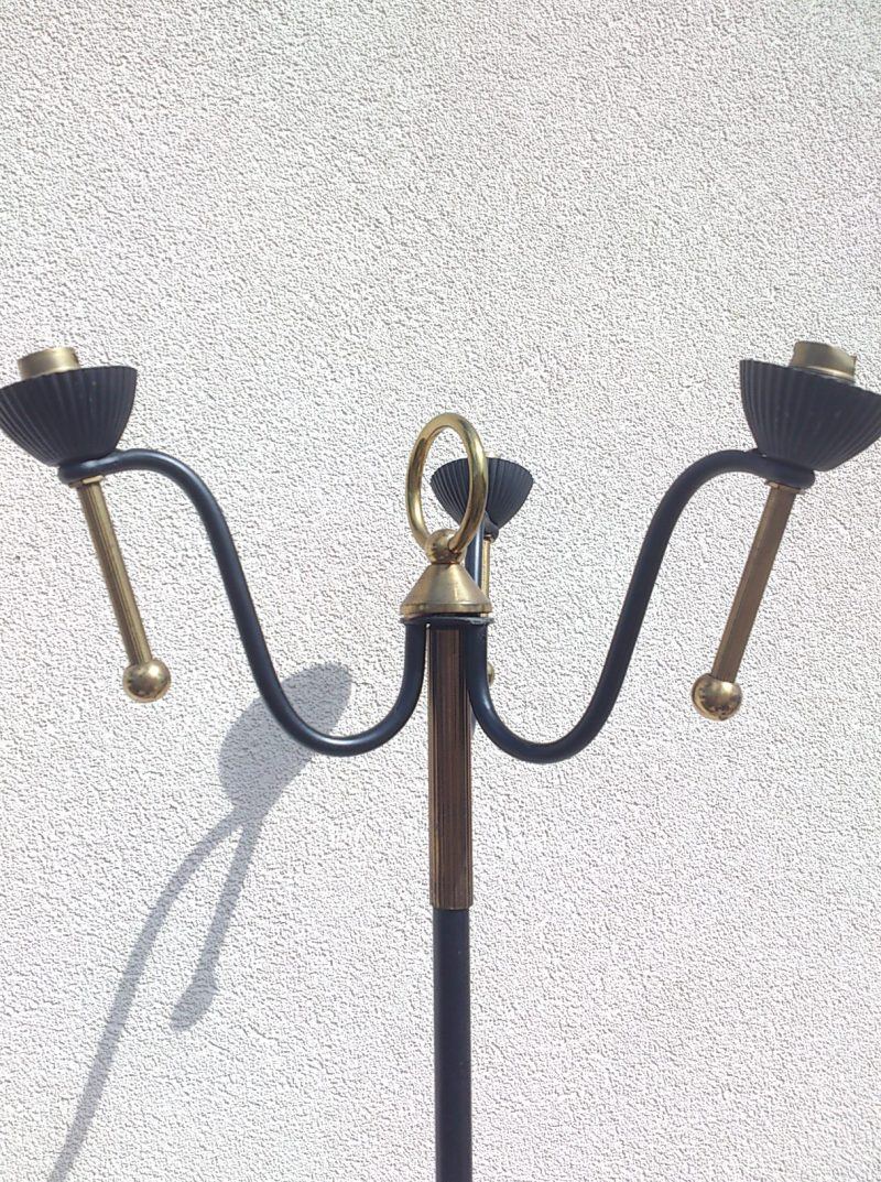 Magnificent 1950's floor lamp in the manner of Jacques Adnet