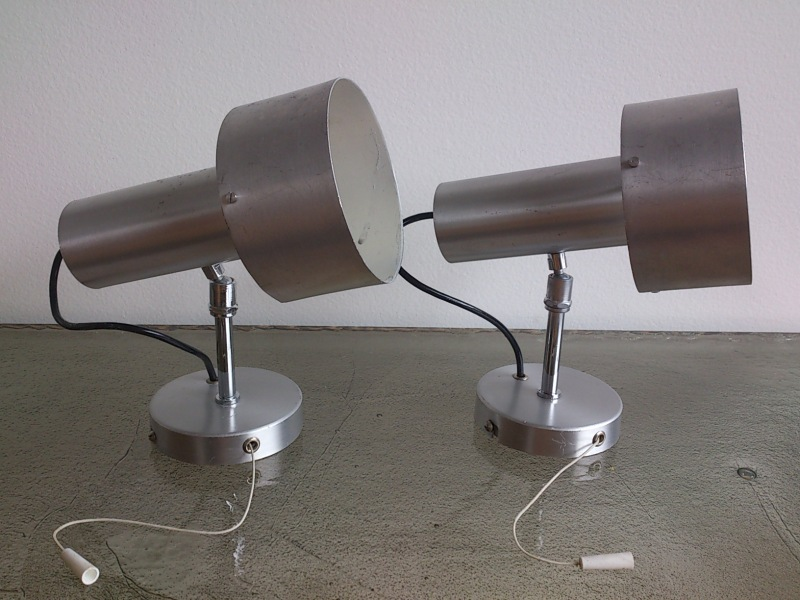pair of aluminum spot lights by Maison Disderot - France 1960's