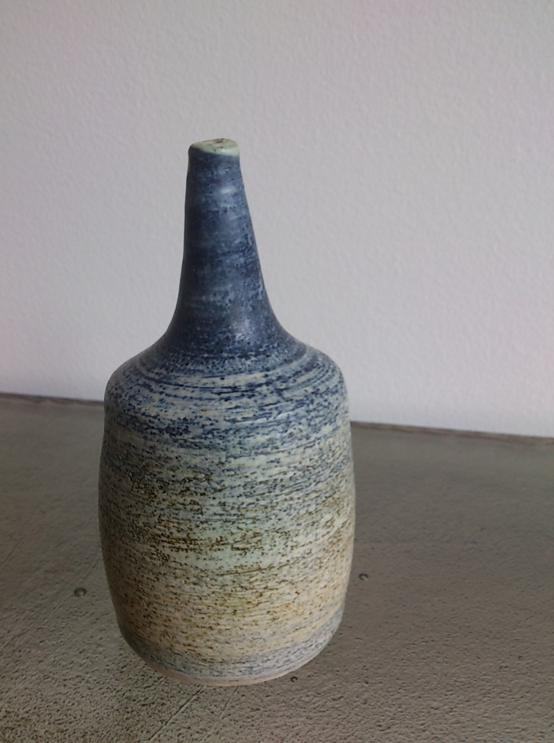 petite soliflore in shades of blue