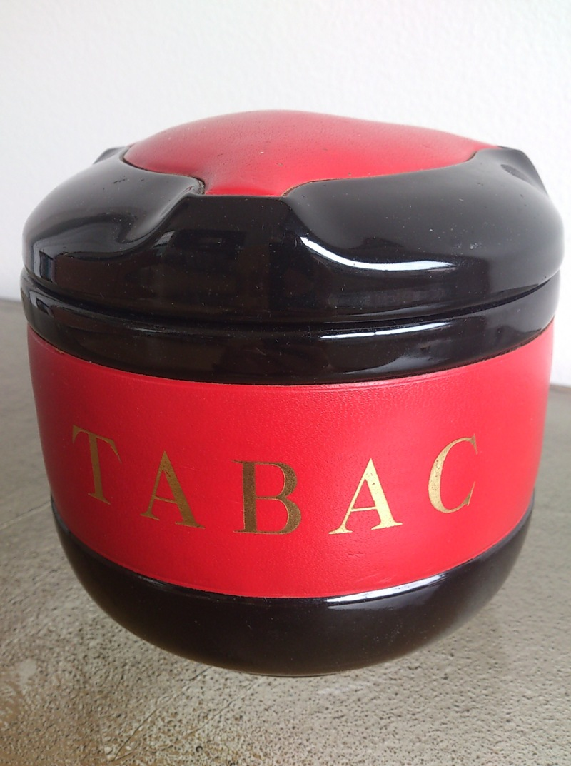 Clay and Leather tobacco Jar