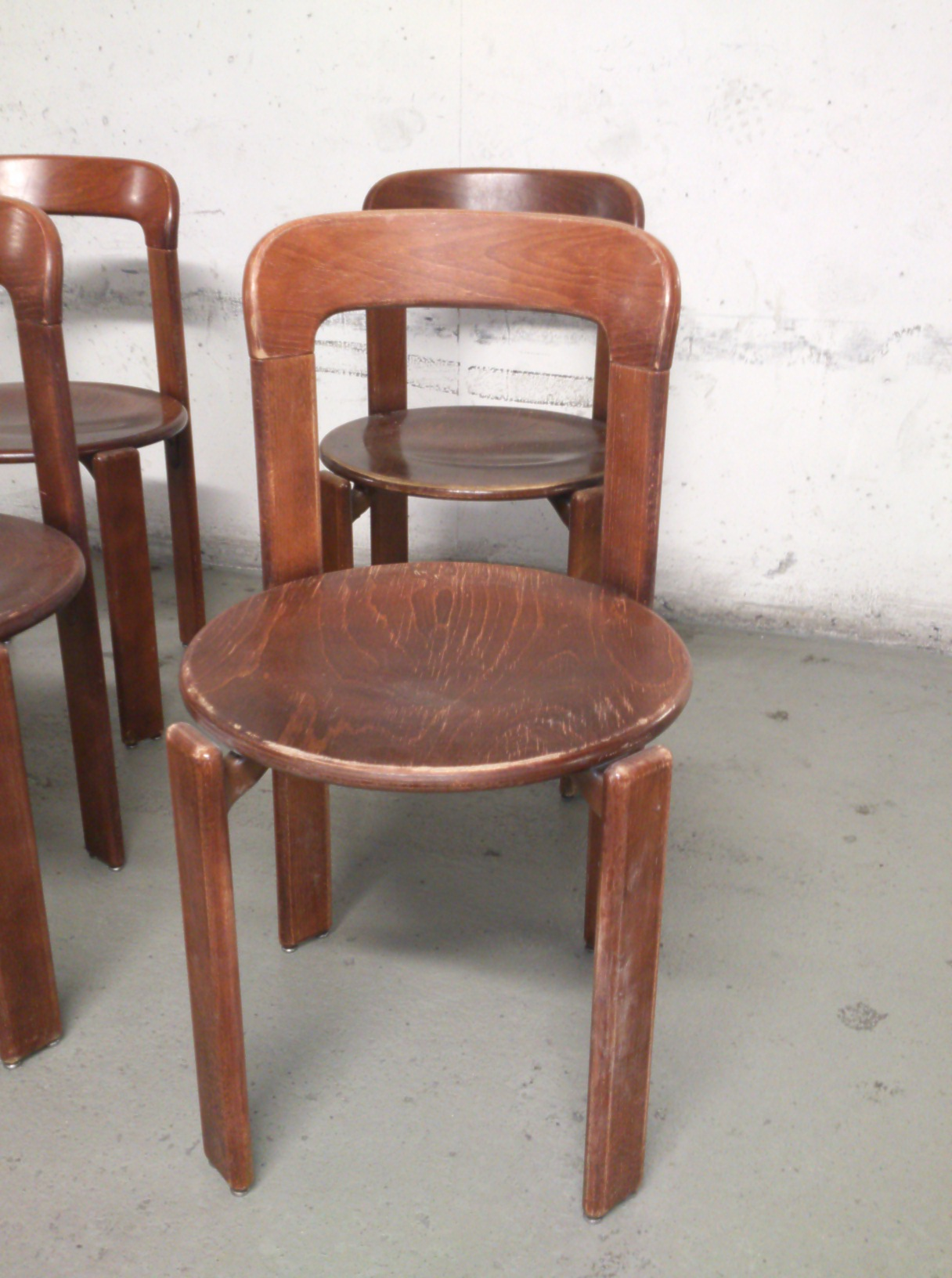 Set of 4 Bruno Rey chairs 8 chairs available in total